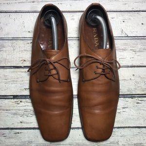 Prada Brown Dress Shoes Oxfords Size 8
